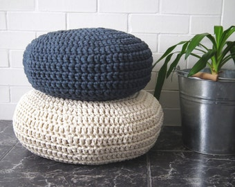 Crochet Floor Cushions-Meditation Floor Pillow-Stuffed Pouf-Nursery Decor-Kids Floor Cushion-Pouf Ottoman-Knit Floor Cushion-Floor Chair