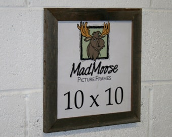 """10x10 Thin x 1.25"""" Barn Wood Picture Frame"""