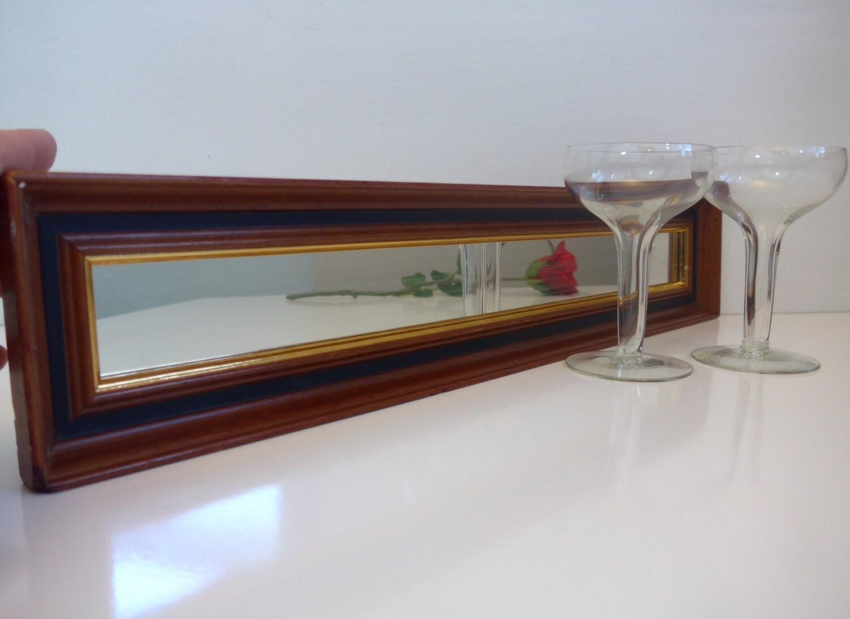 vintage turner wood framed mirror long narrow rectangle. Black Bedroom Furniture Sets. Home Design Ideas