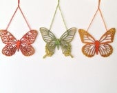 Wood Butterfly Ornaments - Hand Painted Cutouts