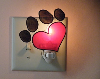 Paw Print Night Light