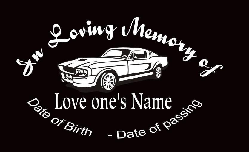 In Loving Memory Car Decal Mustang Custom Memory Auto Decal