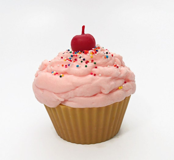 Jumbo Birthday Cupcake Candle