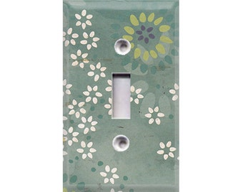 Boardwalk Collection - Flowers Light Switch Cover