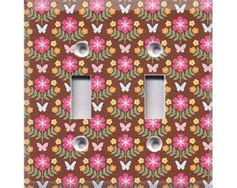 Garden - Butterflies Double Light Switch Cover