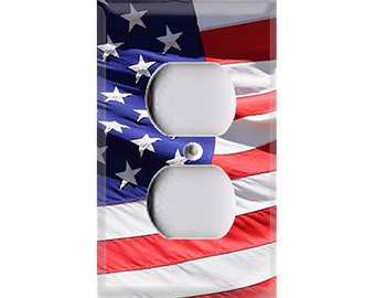American Flag Outlet Cover