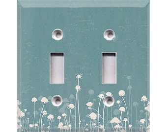 Nature Lover Collection - Dandelions Double Light Switch Cover