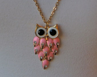 CLEARANCE - Pink Owl Necklace