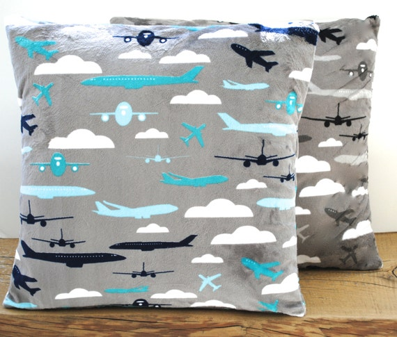 Decorative Airplane Pillow : 1 KAUFMAN airplane pillow covers cushion decorative throw