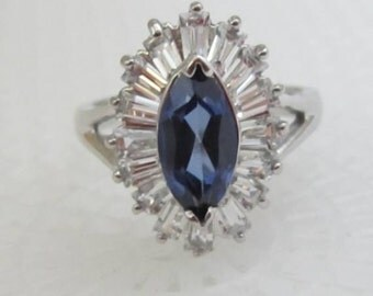 Sterling Silver Baguette Ring