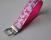 Breast Cancer Awareness Lanyard Keychain for Women, Cool Lanyards for Women, Keychain Lanyard, Cute Wristlet Lanyard, Cute Key Fobs