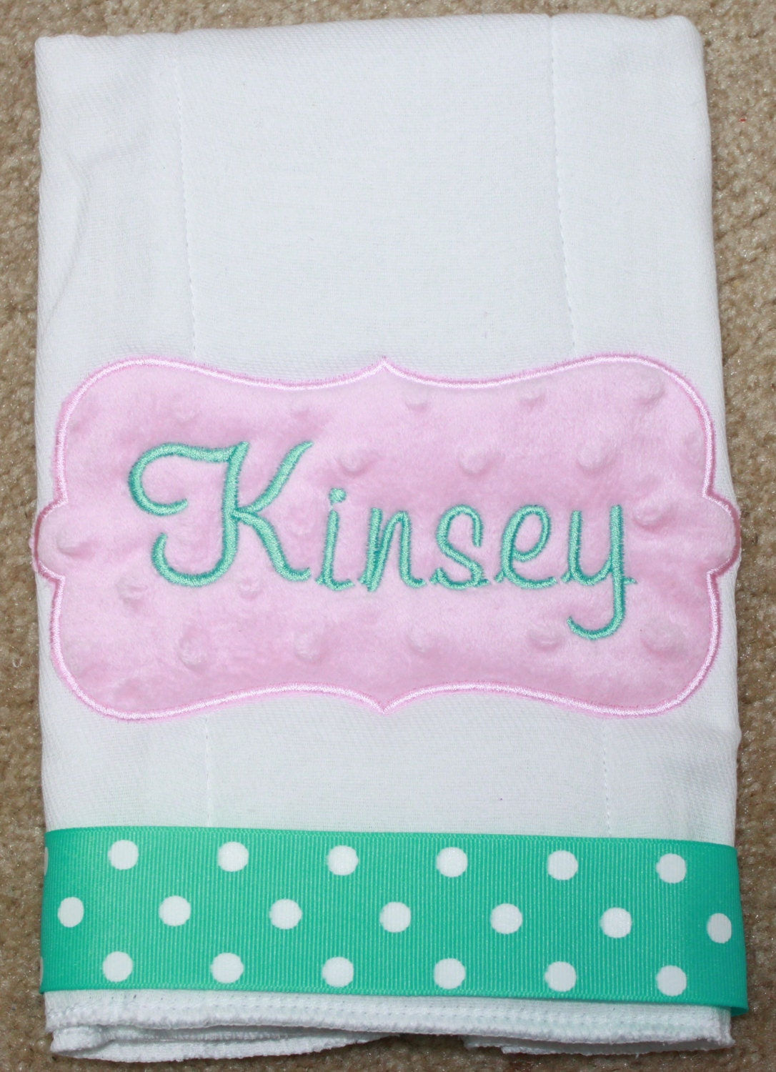 Personalized Burp Cloth Baby Girl Personalized Burp Cloth