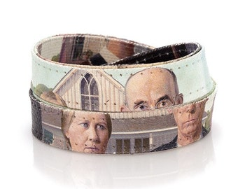 Grant Wood 'American Gothic' Wrap Bracelet / Collar Necklace