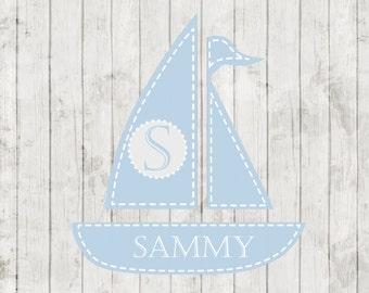 Nursery Rug Personalized Monogrammed Gifts New Baby Gift Nursery Decor Baby Girl Baby Boy Nursery Rug Mat Custom Sailboat Nautical Nursery