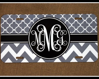 License Plate Car Tag Personalized Monogrammed Car Tag Car Accessories Chevron License Plates New Car Sweet 16Cute Car Accessories For Women