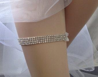 Rainestone Garter, Bridal Wedding Garter, Toss Garter,Sale