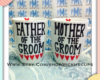 Father and Mother of Bride or Groom- Father of the Bride- Mother of the bride-Wedding Gift wedding day-father of the bride gifts- Bride Gift