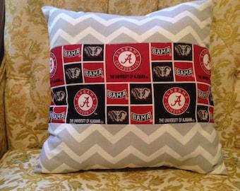 Chevron Alabama Pillow