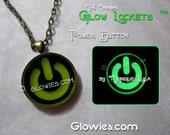 Power Button Symbol Electronic Music DJ Necklace Raver Dubstep Techno