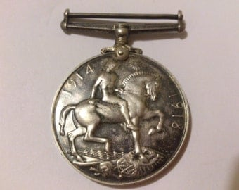 British campaign medal 1914-18 solid silver full size