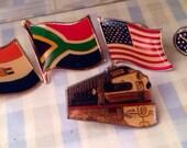Set of 5 Vintage Lapel Pins