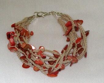 multiwire or black coral bracelet