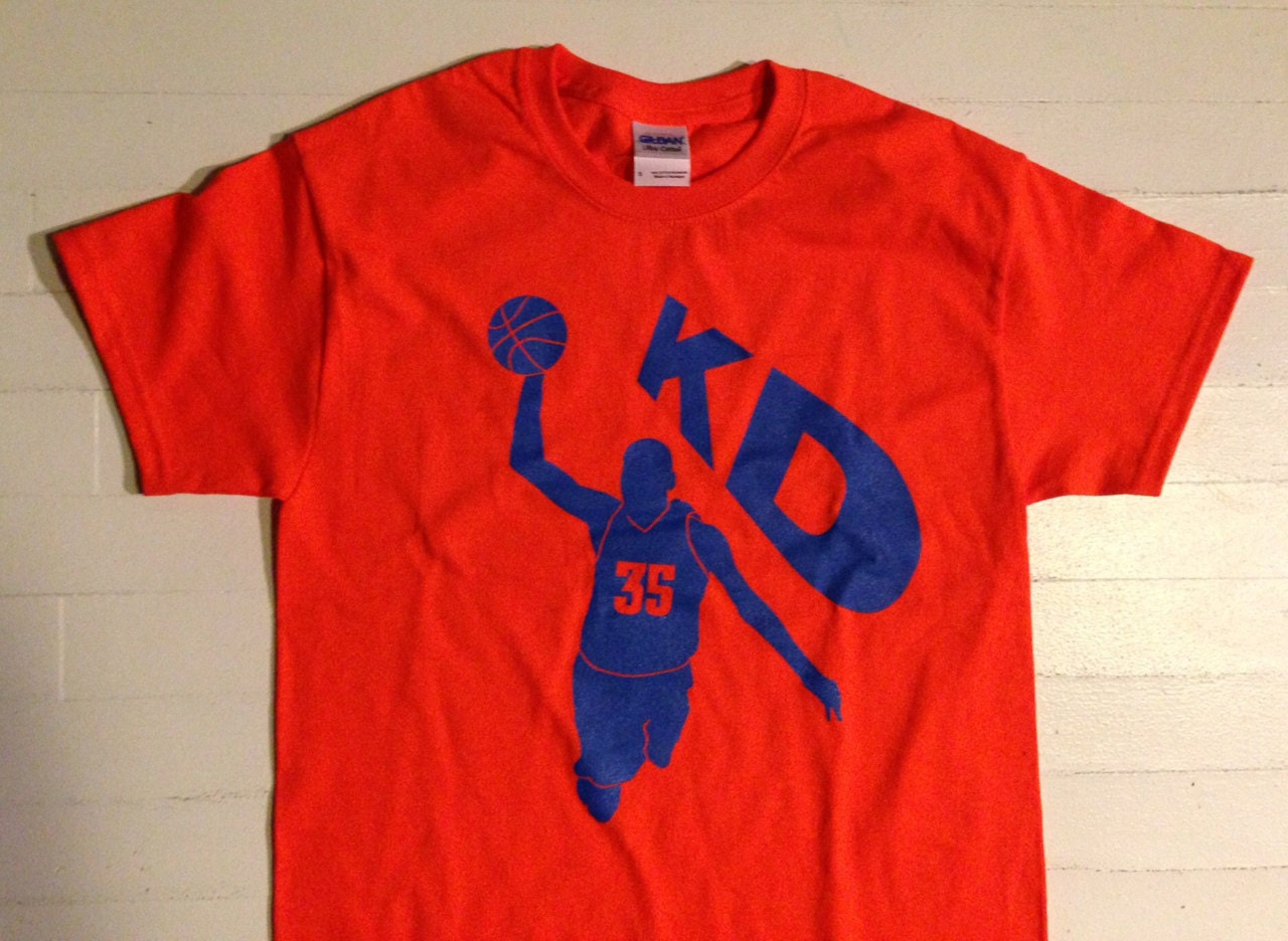 Kevin durant kd 35 dunk t shirt okc oklahoma city by ducetwo for Custom t shirts okc