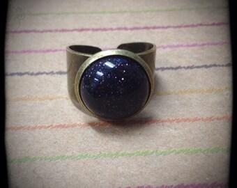 Genuine Blue Goldstone Ring