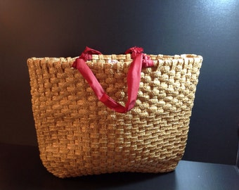 vintage from 50s oversized sea grass tote by mr ernest simon hong kong