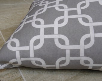 Designer dog bed cover in gray coordinates