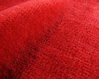0,5m Organic nicki velvet red GOTS