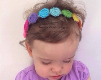 Candy Dots Summer Headband - newborn-adult