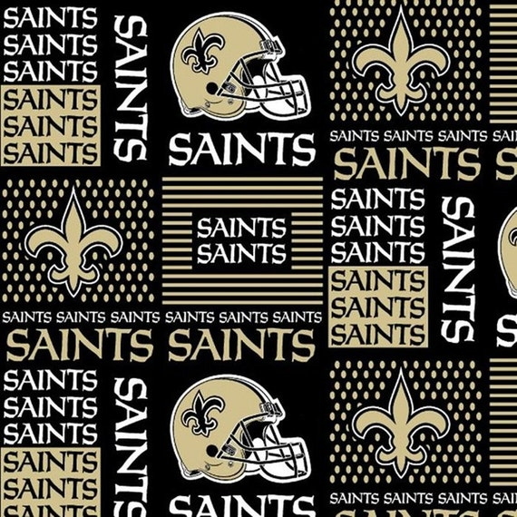 New Orleans Saints NFL Logo Cotton Fabric By By