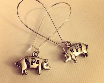 WPS Silver Piggy Earrings