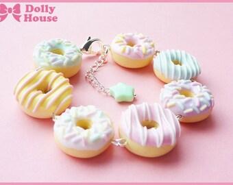 Cute Bracelet -Pastel Doughnuts- by Dolly House