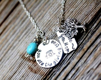 The Giving Tree Necklace with Embellishments