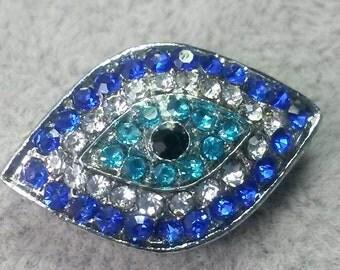 5  Pcs 22mm x 14 mm  Rhinestone  Evil  Eye Beads Evil Eye  Jewelry Hamsa Evil Eye protection
