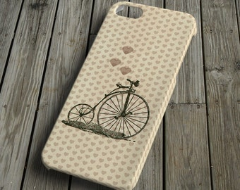 Bicycle with heart - beige - iPhone 5 Case - iPhone 5 Cover - Plastic iPhone 5 Case