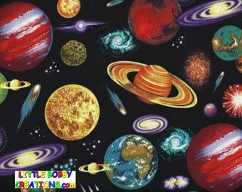 Solar system space etsy for Fabric planets solar system