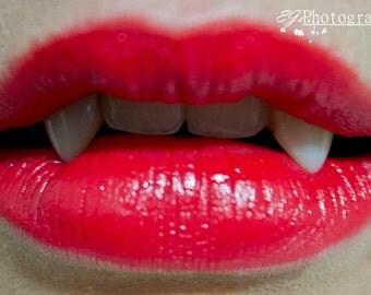True Blood Inspired Vampire Lips, Fine Art Photo