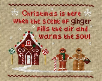 Scent of Ginger- Gingerbread Cross Stitch PDF Chart