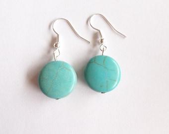 turquoise earrings - gems - gemstone earrings