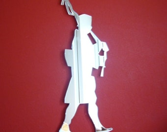Bagpipe Player Shaped Mirror - 4 Sizes Available