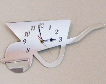 Wheelbarrow Clock Mirror - 2 Sizes Available