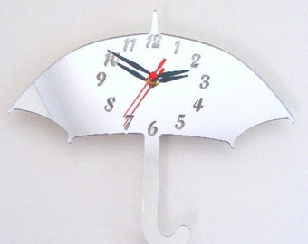 Umbrella Clock Mirror - 2 Sizes Available