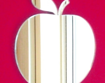 Apple Shaped Mirrors - 5 Sizes Available. Also available in packs of 10 small Apples for Crafting and Decorative Use