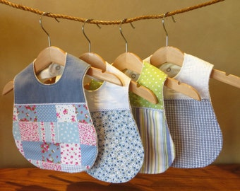 Baby Boy Bib - Set of 4 Boutique Bibs / baby shower gift for boys