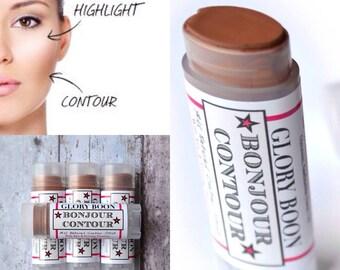 Bonjour Contour, organic contour makeup, contour stick, mineral makeup, paraben free, talc free, bath and beauty