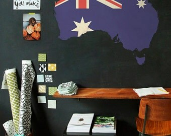 Australia map - Australia map wall decal - Australian Wall Map - Wall decals / 088