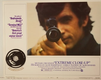 "Lobby Card      ""EXTREME CLOSE-UP""  Card  #1         Original   1973 Lobby Card"